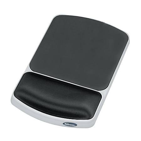 Fellowes® Gel Wrist Rest/Mouse Pad, Graphite