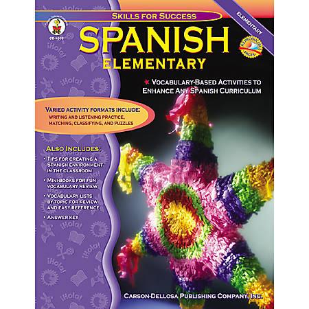Carson-Dellosa Elementary Spanish Book