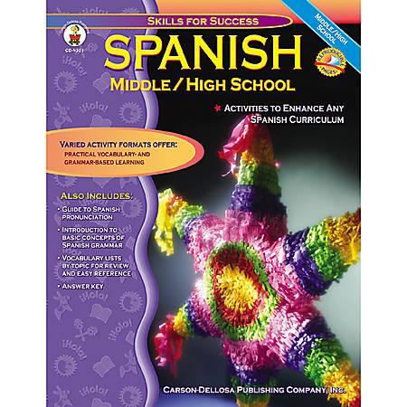 Carson-Dellosa Spanish For Middle And High School