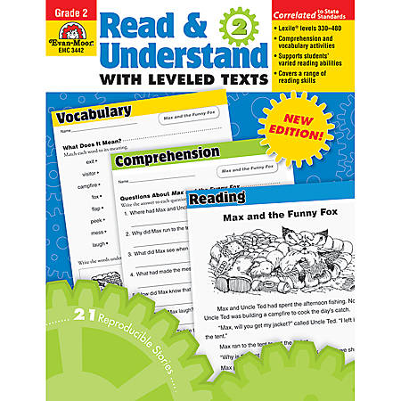 Evan-Moor® Read And Understand With Leveled Texts, Grade 2