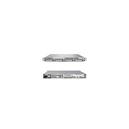 Supermicro A+ Server 1021M-82V Barebone System - nVIDIA nForce MCP55 Pro - Socket F (1207) - Opteron (Dual-core), Opteron (Quad-core) - 1000MHz Bus Speed - 32GB Memory Support - DVD-Reader (DVD-ROM) - Gigabit Ethernet - 1U Rack