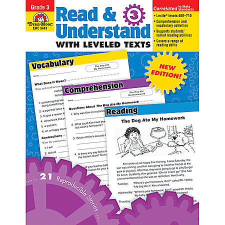 Evan-Moor® Read And Understand With Leveled Texts, Grade 3
