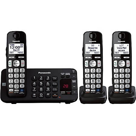Panasonic KX-TGE243B Expandable Digital Cordless Answering System with 3 Handsets