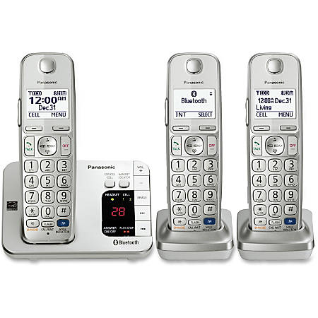 Panasonic KX-TGE263S Link2Cell Bluetooth Cellular Convergence Solution with 3 Handsets