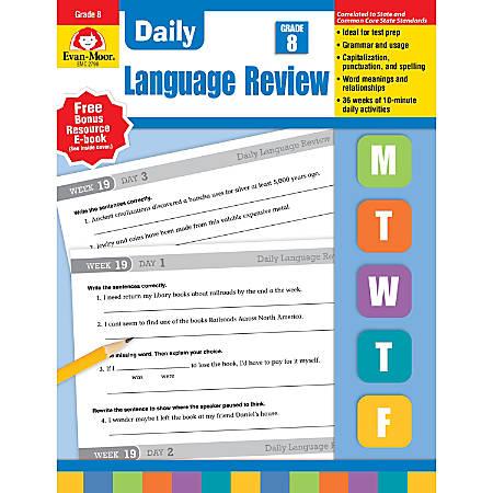 Evan-Moor® Daily Language Review, Grade 8