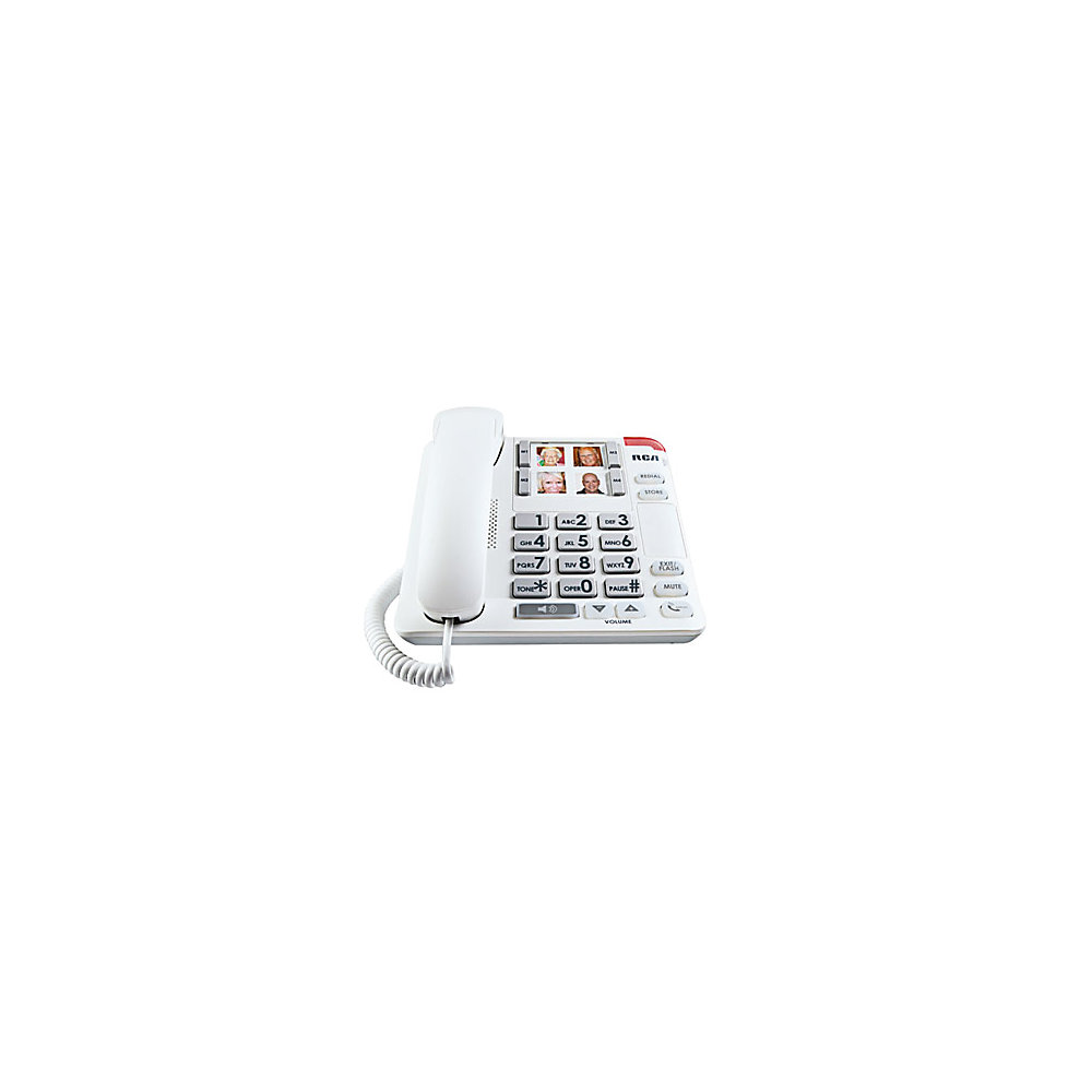 RCA Corded Phone With Enhanced Visual Ringer, 1123-1WTGA