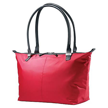 "Samsonite® Jordyn Laptop Computer Bag, 12""H x 21.25""W x 7.5""D, Ruby Red"