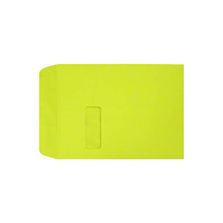 """LUX Open-End Window Envelopes With Peel & Press Closure, #9 1/2, 9"""" x 12"""", Wasabi, Pack Of 50"""