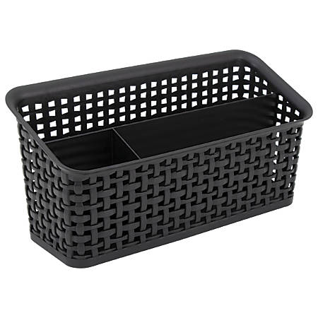 See Jane Work® Weave Bin Valet, Black
