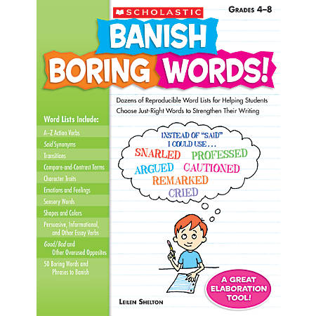 Scholastic banish boring words by office depot officemax scholastic banish boring words fandeluxe Image collections
