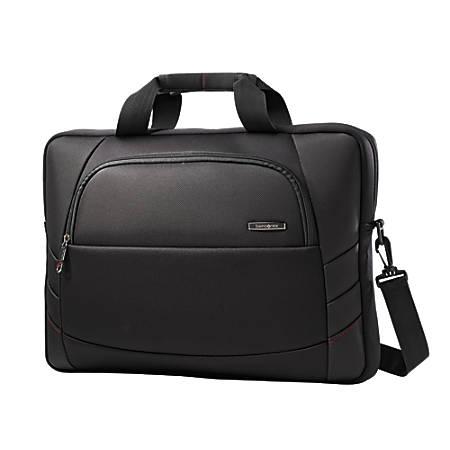 "Samsonite® Xenon 2 Slim Briefcase Laptop Bag For Laptops Up To 17.3"", Black"