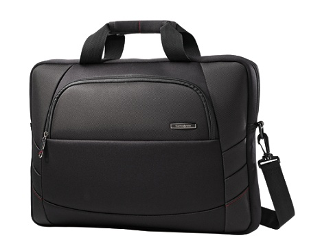 Samsonite Xenon 2 Slim Briefcase Laptop Bag For Laptops Up To 17 3 Black By Office Depot Officemax
