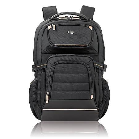 Solo Pro Laptop Backpack, Black/Tan