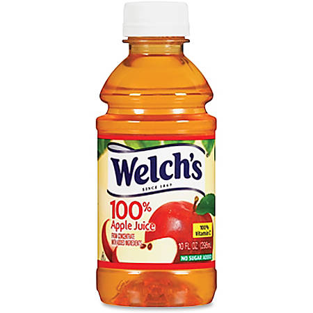 Welch's Apple Juice 10Oz 24 Per Carton - For Local Delivery Only - Ready-to-Drink - Apple Flavor - 10 fl oz (296 mL) - Bottle - 24 / Carton