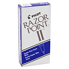 Pilot Razor Point II Markers Super