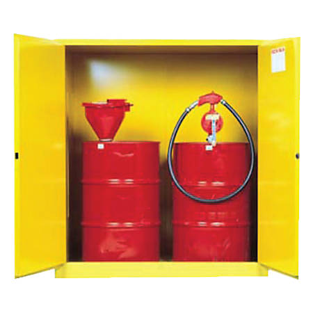 Vertical Drum Safety Cabinets, Manual-Closing, (2) 55 Gallon Drum, w/Support