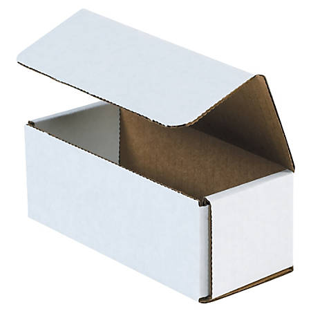 """Office Depot® Brand 10"""" Corrugated Mailers, 4""""H x 5""""W x 10""""D, White, Pack Of 50"""