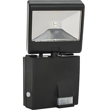 Maxsa Solar-Powered LED Security Spotlight - LED Bulb - Motion-activated, Adjustable - Plastic - Wall Mountable