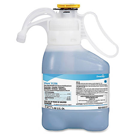 Diversey Care Virex II 256 One-Step Disinfectant Cleaner and Deodorant, 47.36 Oz.