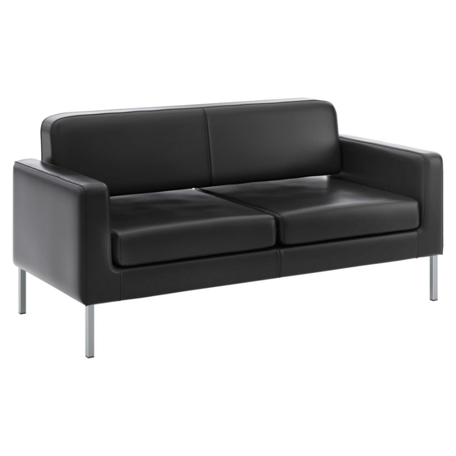 basyx by HON Contemporary Sofa Black by Office Depot OfficeMax
