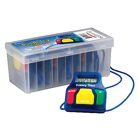 Learning Resources Primary Timer, Assorted Colors, Set Of 6