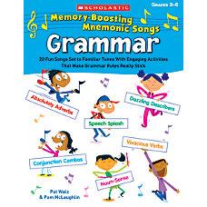 Scholastic Memory Boosting Mnemonic Songs Grammar