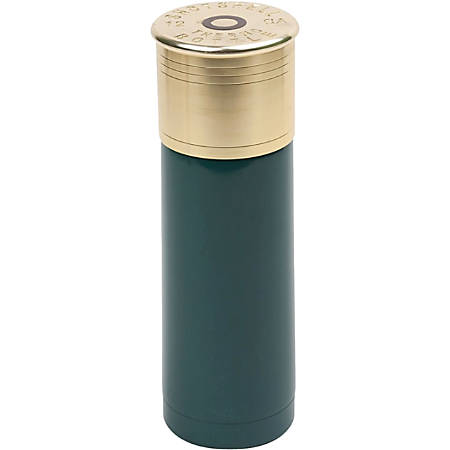 Stansport 12 Gauge Shotshell Thermo Bottle, 25 Oz Capacity, Green/Gold