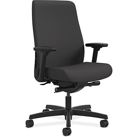 "HON Endorse Mid-Back Task Chair - Fabric Black Seat - Fabric Black Back - 5-star Base - 19.75"" Seat Width x 15.75"" Seat Depth - 28.8"" Width x 29"" Depth x 46"" Height"