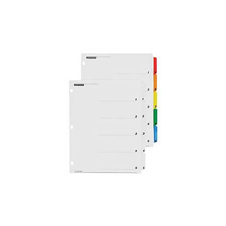 Cardinal® OneStep® Index System, 1-8 Tab, Multicolor