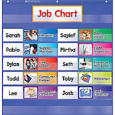 Scholastic Class Jobs Pocket Chart Blue