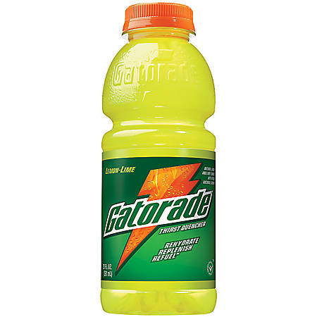 Gatorade Lemon-Lime Sports Drink, 20 Oz, Case Of 24 Bottles