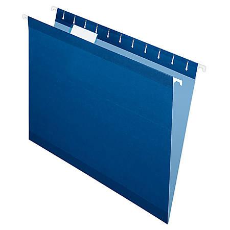 Pendaflex® Premium Reinforced Color Hanging Folders, Letter Size, Navy, Pack Of 25