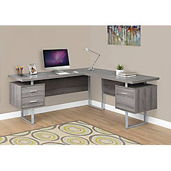 Monarch Specialties L Shaped Particleboard Corner Computer