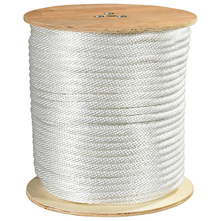 "Office Depot® Brand Solid Braided Nylon Rope, 6,000 Lb, 5/8"" x 500', White"