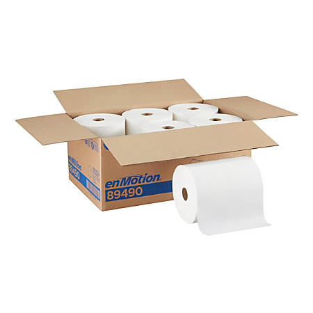 """enMotion® by GP PRO Recycled Paper Roll Towel, 10"""" x 800', 40% Recycled, White, Pack of 6 Rolls"""