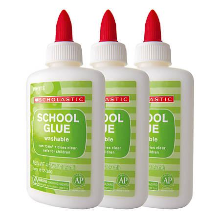 Scholastic School Glue, 4 Oz, Pack Of 3