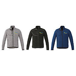 Elevate Embroidered Tremblant Knit Jacket Mens