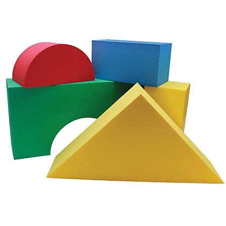 Edushape Giant Blocks, Assorted Colors, Grades Pre-K - 9, Pack Of 16