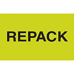 Preprinted Special Handling Labels DL2621 Repack