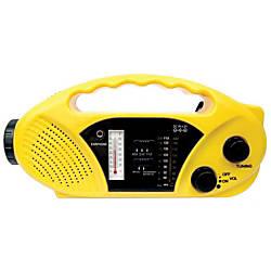 Stansport Hand CrankSolar Battery RadioFlashlight