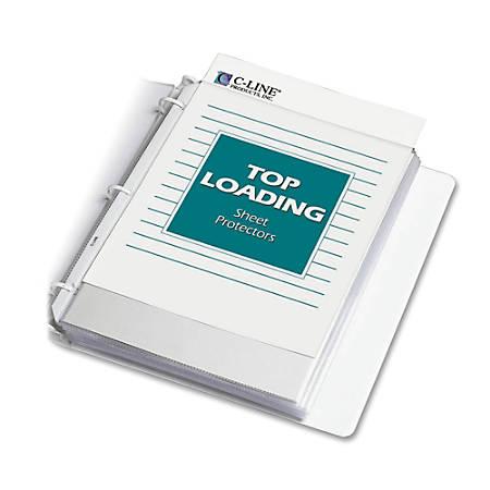 "C-Line® Polypropylene Top-Loading Sheet Protectors, 8 1/2"" x 11"", Heavyweight, Box Of 50"