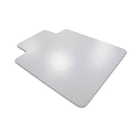 """Floortex Polycarbonate Chair Mat With Wide Lip For Medium Pile Carpet, 60"""" x 48"""", Clear"""