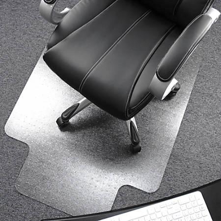"Floortex Polycarbonate Rectangular Chair Mat For Deep-Pile Carpet, 47"" x 35"", Clear"