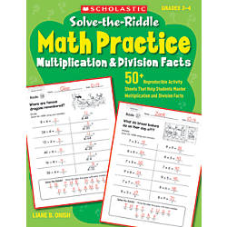 Scholastic Solve The Riddle Math Practice