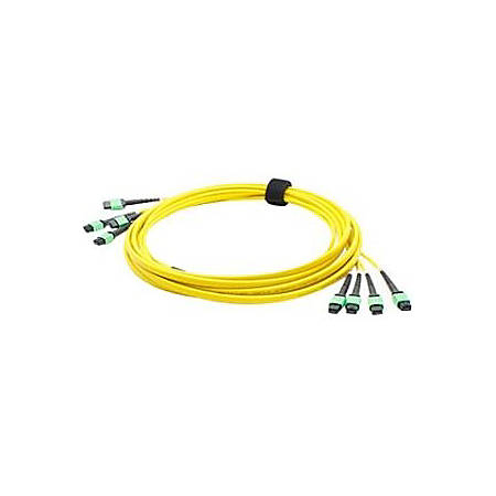 AddOn 1m 4xMPO (Female) to 4xMPO (Female) 48-strand Yellow OS1 Straight Fiber Trunk Cable