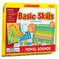 Scholastic Basic Skills Learning Games Vowel