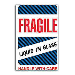 Tape Logic Preprinted Shipping Labels Fragile