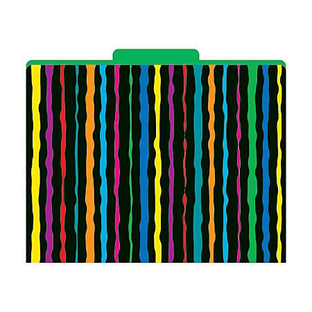 """Barker Creek Tab File Folders, 8 1/2"""" x 11"""", Letter Size, Neon, Pack Of 12"""