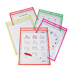 C Line Reusable Dry Erase Pockets