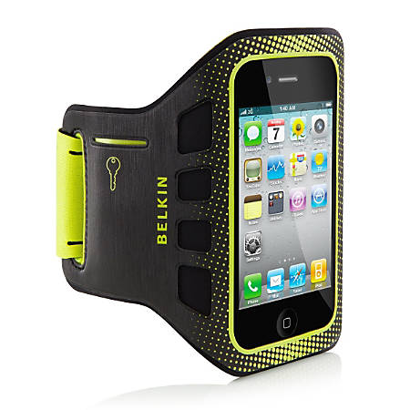 Belkin® Easefit Armband For Apple® iPhone® 4, Black/Lime